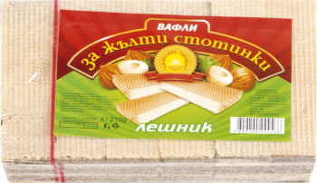 Za zhalti stotinki wafers hazelnut 24pcs