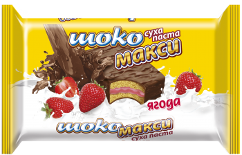 Sponge cake Choco maxi strawberry 75g/19pcs