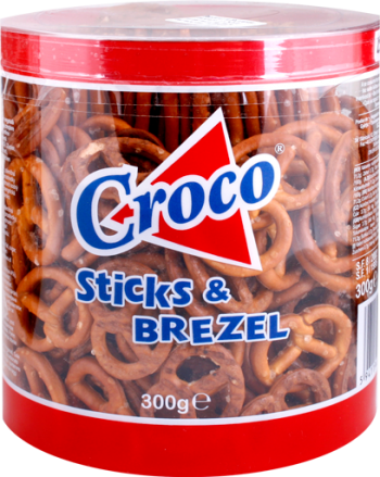 Croco stcks and brezel 300g/15pcs
